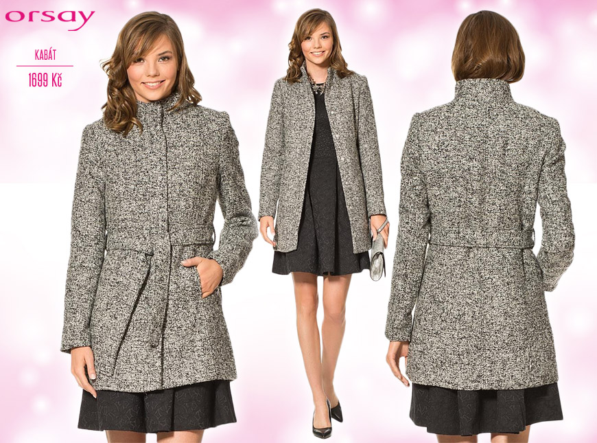 Univerzální kabát Orsay – katalog podzim/zima 2014/2015.