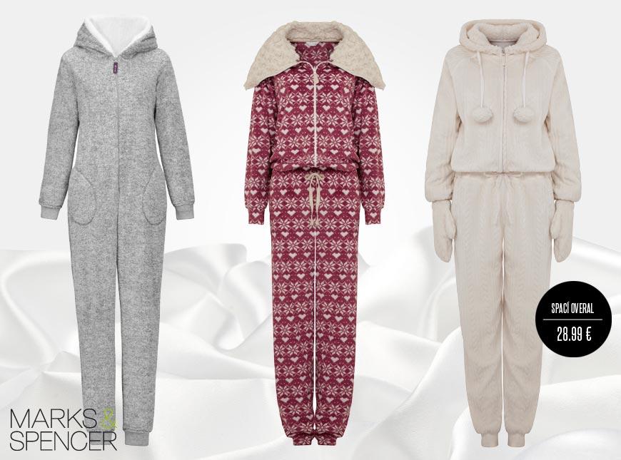 Spací overal Marks&Spencer můžete nosit v zimě i jako domácí oblečení.