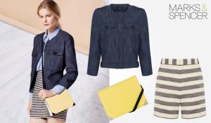 Oblečení z materiálů s hrubou strukturou dává jarní módě M&S luxusní vzhled.