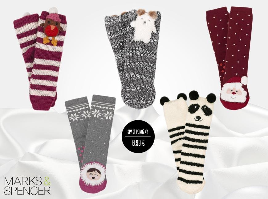 Spací ponožky z Marks&Spencer – zahřejí vás, nebo je můžete darovat k vánocům jako dárek.