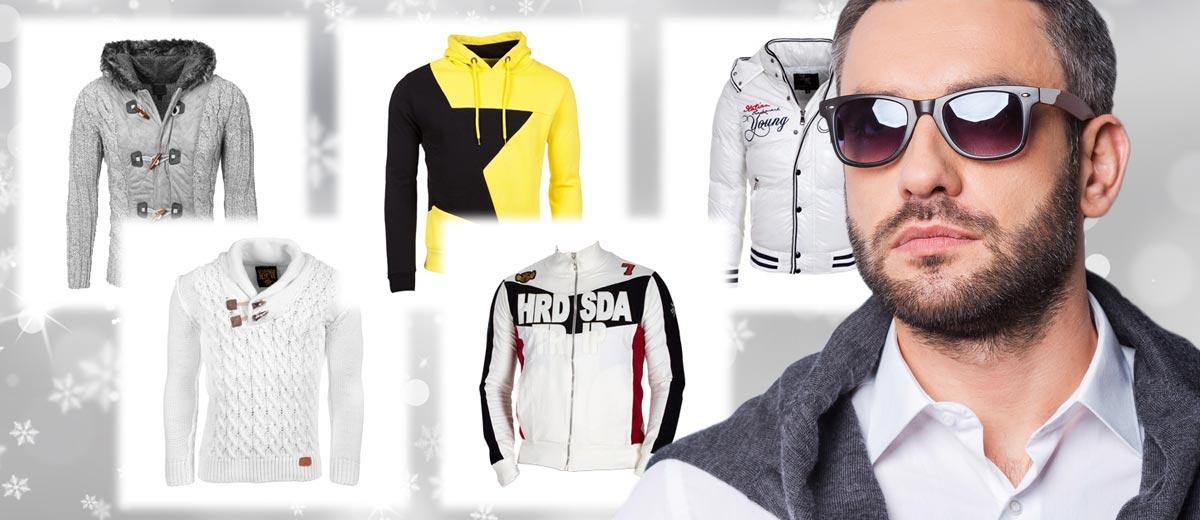 Skvělé módní pánské svetry, pulovry, mikiny i bundy na zimu – to vše nabízí pánská zimní móda Mary-fashion.cz.