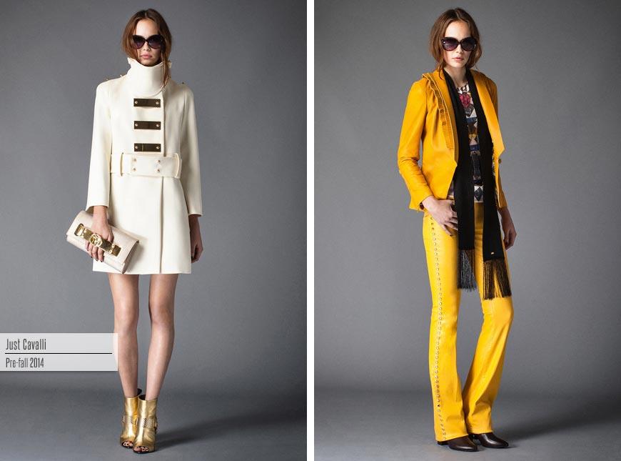 Móda Just Cavalli Pre-Fall 2015 dýchá módou 70. let. I když spíše kýchá – je jí tam decentně jako kapénkové nákazy.