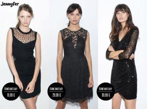 """Černé koktejlky jsou skvělou odpovědí na otázku, kterou si často kladem: """"Co na sebe?"""" (Koktejlové šaty na obrázku jsou z kolekce Jennyfer, katalog podzim/zima 2014/2015.)"""