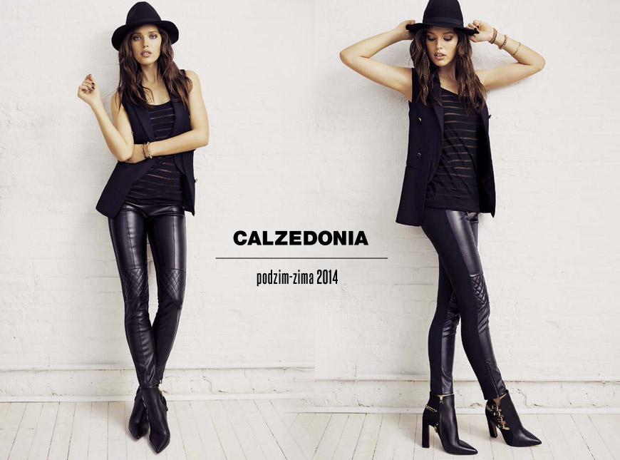 Leginy Calzedonia dokonale napodobují sexy kožené kalhoty. Kožené fake kalhoty jsou hitem sezóny podzim/zima 2014/2015.