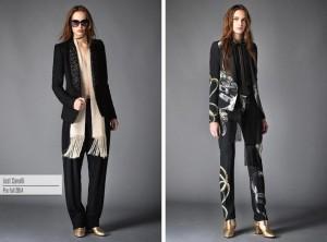 Dámský smoking podle Just Cavalli – modely jsou z kolekce Pre-Fall 2015.