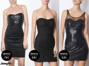 Koktejlové černé šaty bez ramínek nesednou každému Je nutné je dobře vyzkoušet. Není nic horší, než padající šaty! (Koktejlové šaty na obrázku jsou z kolekce Jennyfer, katalog podzim/zima 2014/2015.)