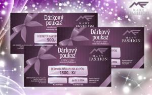 Věnujte k vánocům dárkové poukazy z módního butiku Mary-fashion.cz.