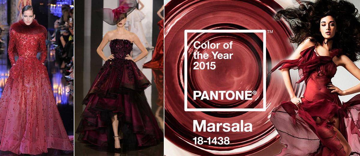 Barva slavného sicilského vína, které je barvou roku 2015, sluší také večerním róbám. Společenské šaty 2015 v barvě Marsala jsou na ples ty správné!