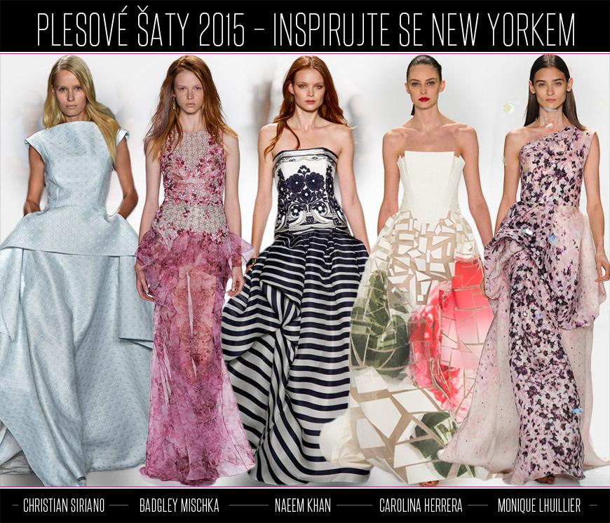 003ba0c0bffd Inspirujte se plesovými šaty z New York Fashion Week. Christian Siriano  představil šaty