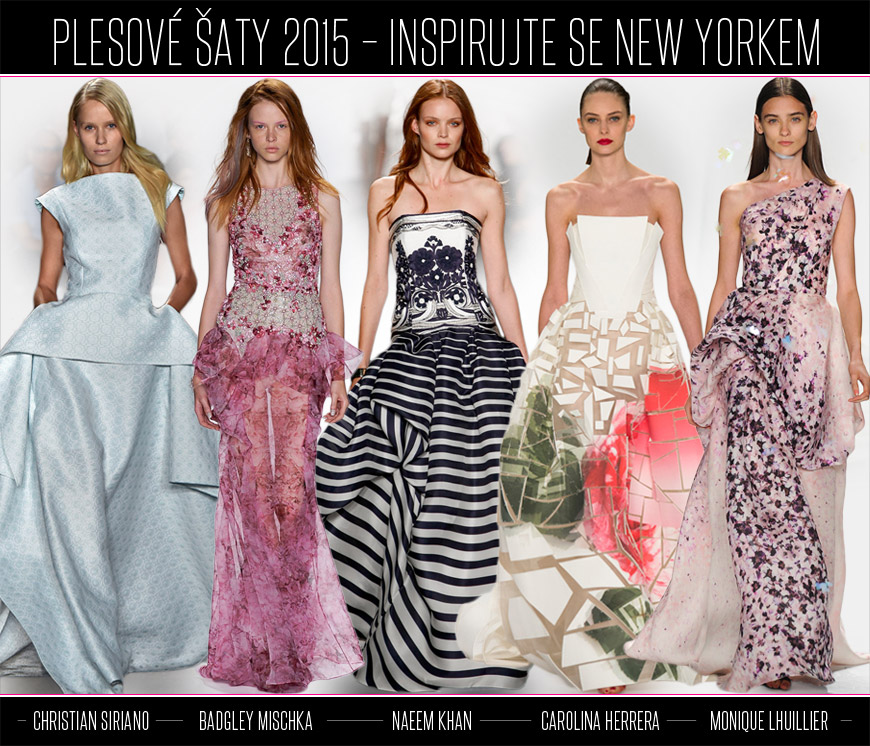 Inspirujte se plesovými šaty z New York Fashion Week. Christian Siriano  představil šaty da54da1a30
