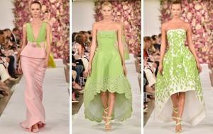 Plesové šaty pro aktuální společenskou sezónu z dílny Oscar de la Renta.
