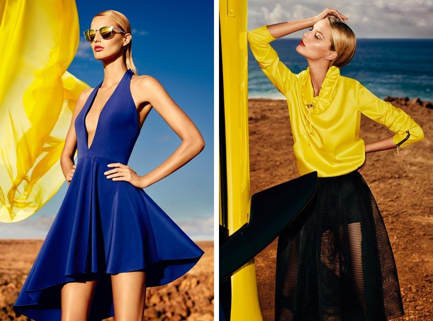 Jaro odhaluje. Stejně tak jako svůdný zip na nádherné žluté sukni MOHITO.