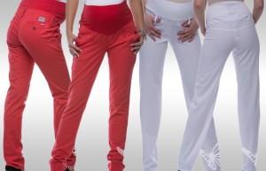 Kvalitní těhotenské kalhoty nezklamou v žádné fázi těhotenství.