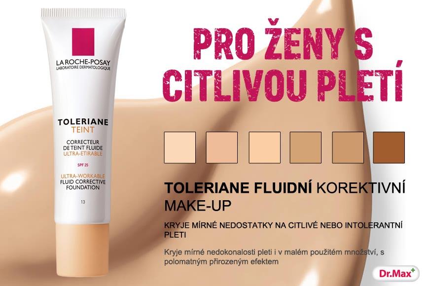 Make-up Toleriane od La Roche-Posay má fluidní texturu, je obohacen o termální vodu, má přirozeně zvláčňujícími účinky a působností proti volným radikálům.