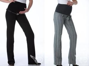 Těhotenské kalhoty se hodí i do společnosti. Vyberte si některý z elegantních modelů.
