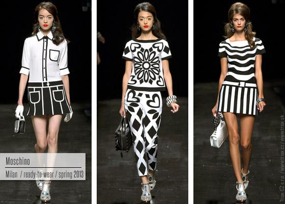 Inspirující černobílá kolekce Moschino nás na černobílou notu naladila již loni.