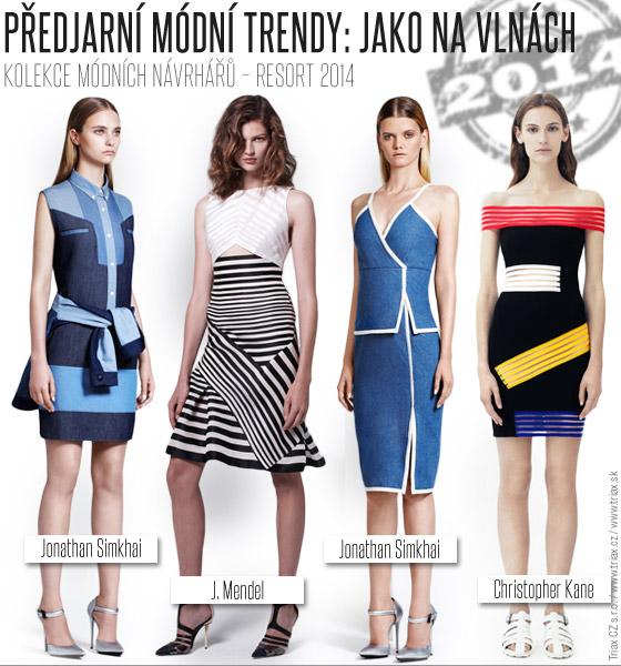 Předjarní módní trendy: Na vlnách / Resort 2014