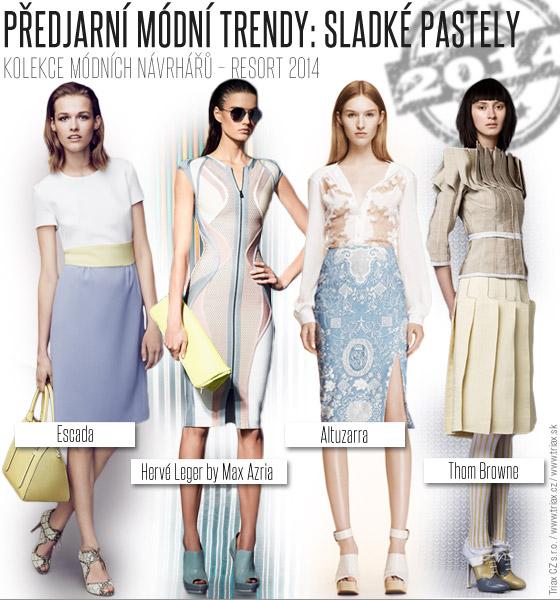 Předjarní módní trendy: Sladké pastely / Resort 2014