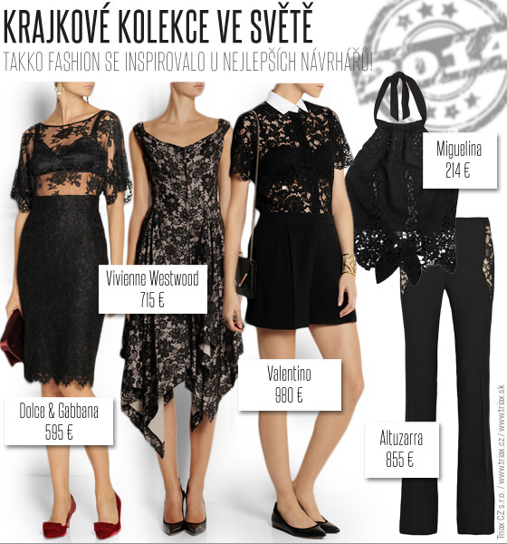Krajková kolekce Takko Fashion našla inspiraci v kolekcích slavných značek