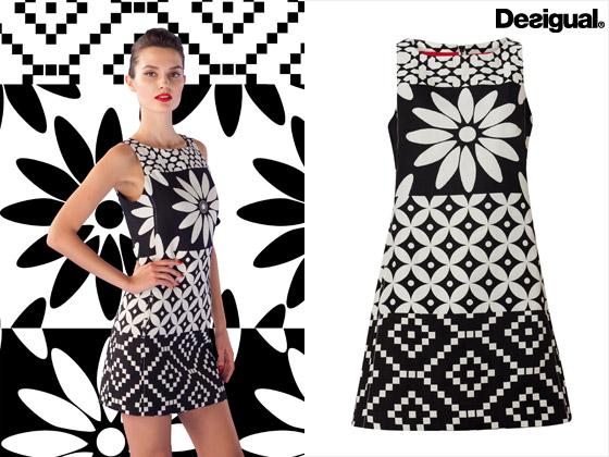 Šaty z kolekce Desigual inspirované 60 léty – kolekce je určena pro sezónu jaro/léto 2014.