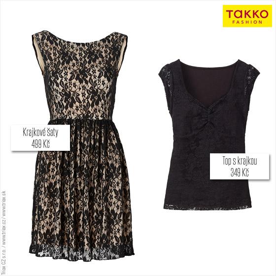 Hitem sezóny z kolekce Takko Fashion budou černé krajkové šaty