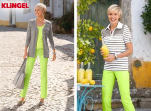 Netradiční, ale dokonalou kombinaci šťavnaté zelené a šedé, představili ve své kolekci designéři KLiNGEL.
