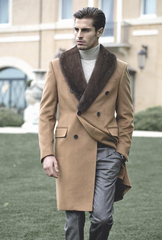 Kabát Tombolini z nové pánské kolekce pro podzim a zimu 2014/15.