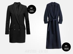 Kabáty H&M Studio jsou v kolekci jako dlouhé i kratší modely kabátů.