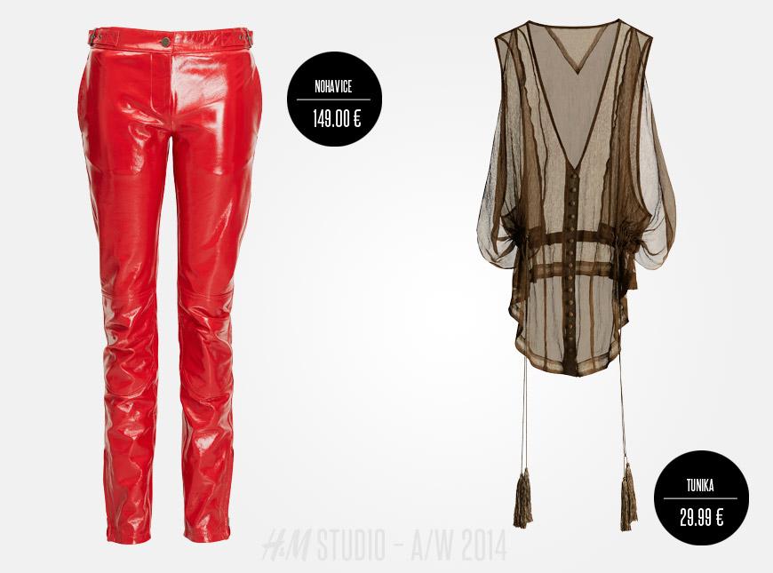 Kalhoty H&M Studio budou podzimním hitem. Stejně jako průhledné halenky a tuniky.