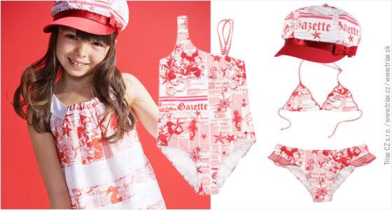 Tradiční Galliano Gazette potisk se na dětské kolekci oblečení pro jaro a léto 2014 míchá s námořnickými symboly a obrazy podmořského světa.