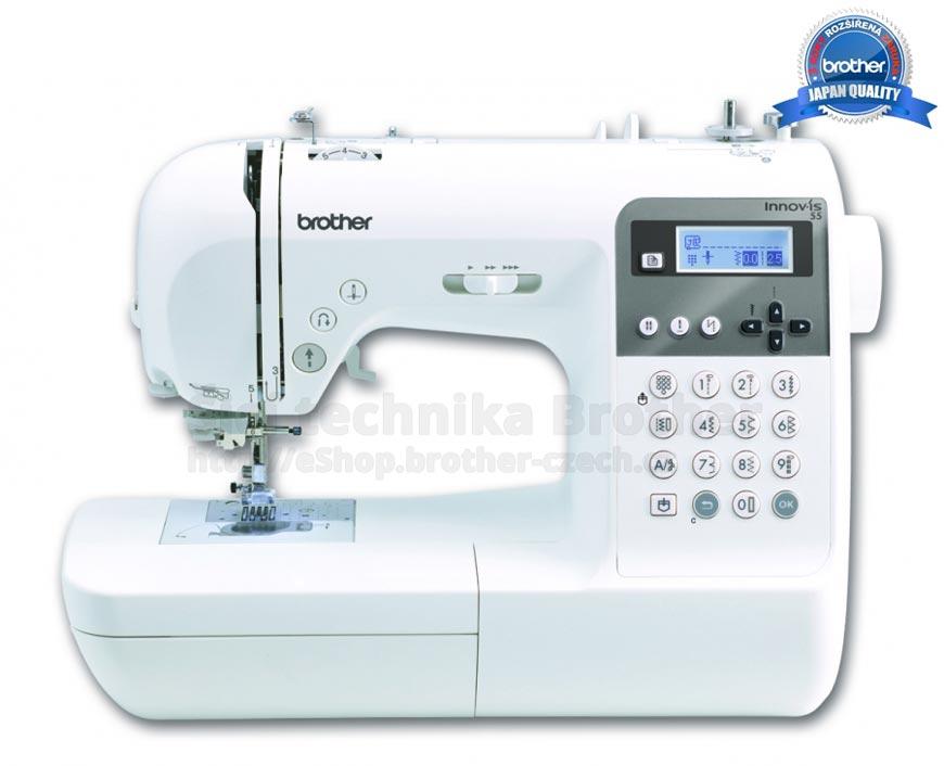 Šicí stroj Brother Innov-Is 55 – špičkový elektronický jednojehlový šicí stroj, pro domácí použití náročnějšími zákazníky.