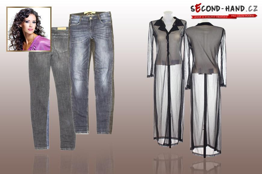 Valérie si na Second-hand.cz našla skvělé Zara džínsy a úžasnou průhlednou šatovou halenku.