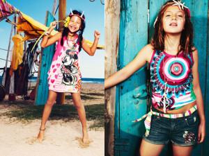 Dětský Desigual je pestrý a hravý. Více ale fandí dívčí než chlapecké módě.