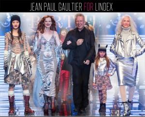 Modely z kolekce Jean Paul Gaultier x Lindex na velkolepé módní přehlídce.