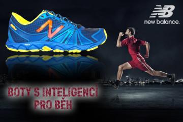 New Balance jsou boty s inteligencí pro běh. Na obrázku jsou boty New Balance MT1010B2 s technologií extrémně lehké pěnové hmoty tlumící nárazy v podrážce RevLite. Boty mají podrážku Vibram vhodnou pro různorodý nerovný terén a jsou určeny pro běh za sucha i mokra. Speciální je karbonová deštička chránící nohu před průnikem kamenů a jiných ostrých předmětů podrážkou při běhu (technologie Rock Stop).