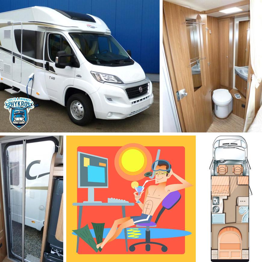 Obytné auto nebo karavan vám umožní změnit životní styl. Pracujte jako freelandcer odkudkoliv na světě!