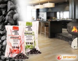 Prodej uhlí v pytlích umožňuje moderní a čisté topení.