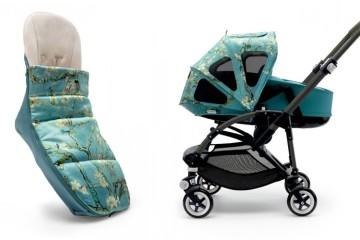 Všechny doplňky kočárku Bugaboo Bee³ + Van Gogh inspirovaného holandským malířem Vincentem van Goghem spolu dokonale ladí. Ve stejném designu pořídíte fusak i odvětrávanou prodyšnou stříšku kočárku.