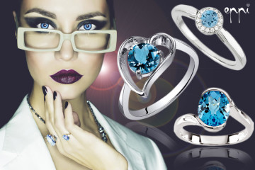 Naučte se správně kombinovat šperky! Ladit musí navzájem, s vašim stylem, věkem, oblečením, s příležitostí ale třeba i s barvou vašich očí! Prsteny s topazem, akvamarínem a diamanty, které vidíte na obrázku, nabízí internetové klenotnictví Eppi.cz.