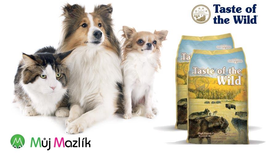 Superprémiová krmiva pro psy a kočky Taste of the Wild patří mezi to nejlepší, čím můžete krmit!