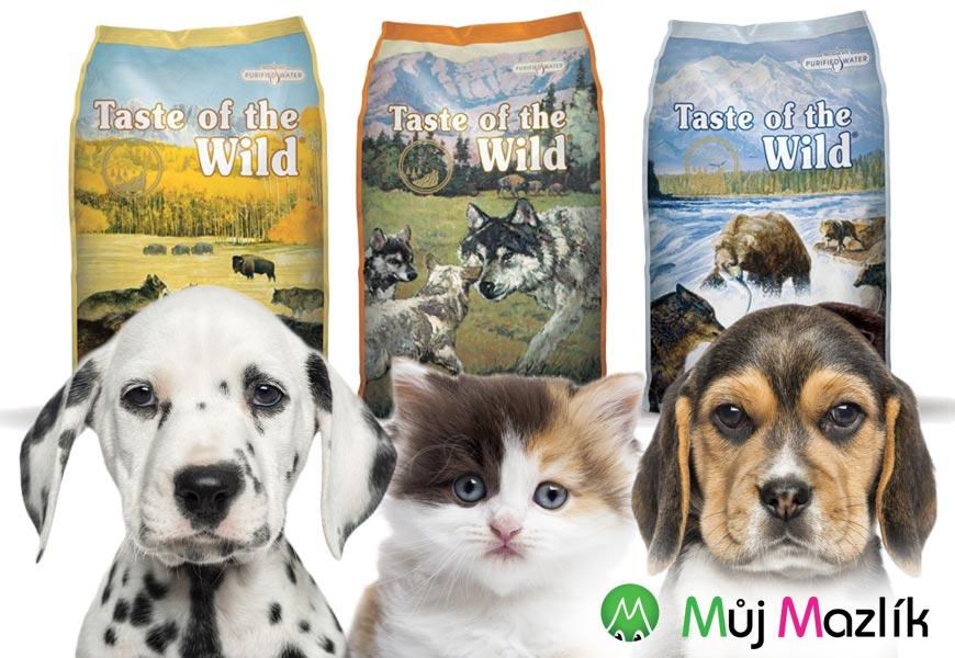 Krmiva pro psy a kočky Taste of the Wild neobsahují žádné obiloviny!