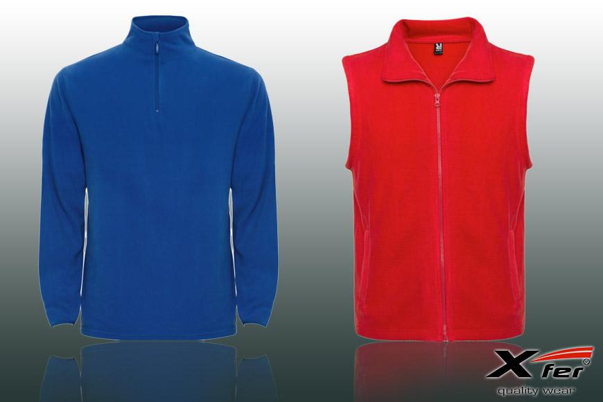 V sortimentu Xfer.cz nechybí ani fleece mikiny dalších střihů, včetně fleecových vest pro ženy i muže.