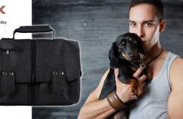 Pánská taška jezevčík roste podle vašich potřeb. Ručně šitý model na obrázku je z kolekce české značky Yark. (Cena: 600 Kč)