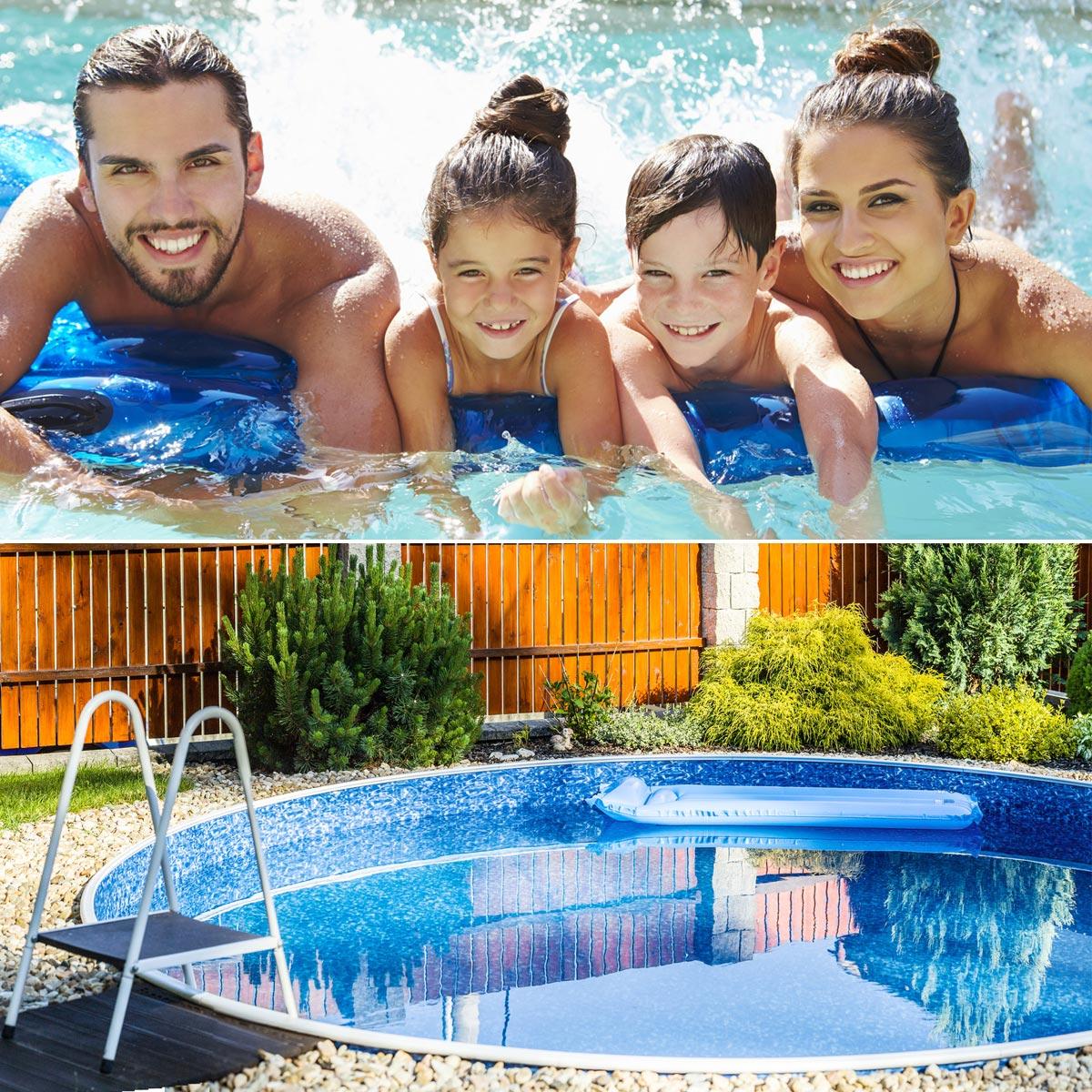 Rodinný bazén rozhodně k rodinnému domku se zahrádkou patří
