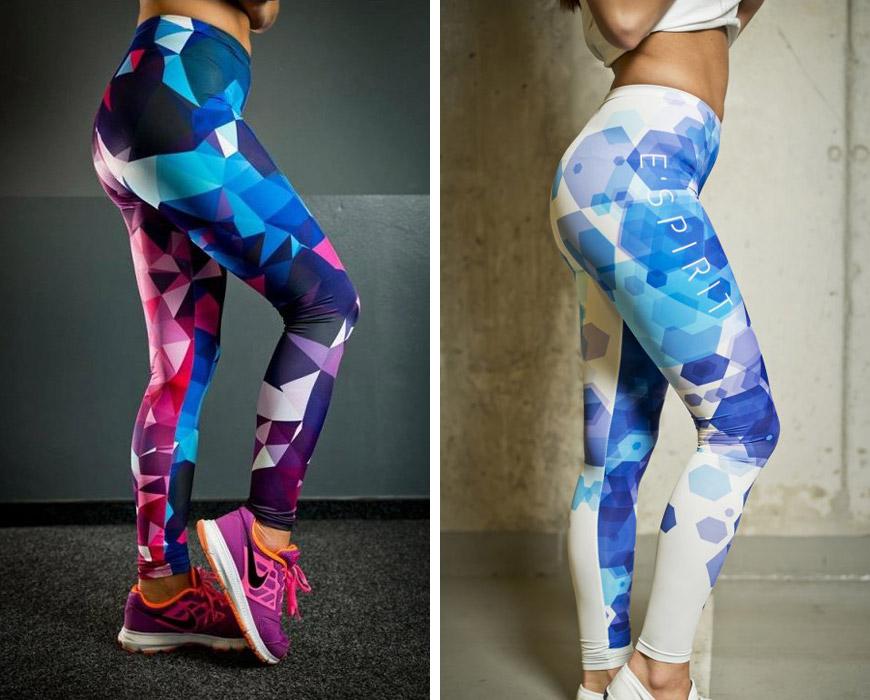 Fitness legíny s geometrickými vzory jsou v módě!
