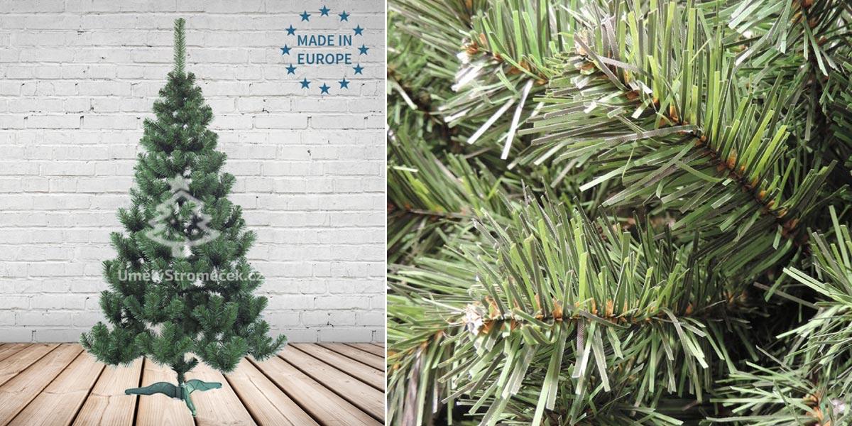 Umělé vánoční stromky – jedle přírodní. (Tento vánoční stromek koupíte v e-shopu Umelystromecek.cz)