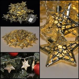 Vánoční osvětlení má své tradiční motivy – jedním z nich je například hvězda.