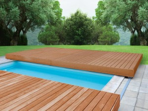 Terasové bazénové zakrytí Walu desk.