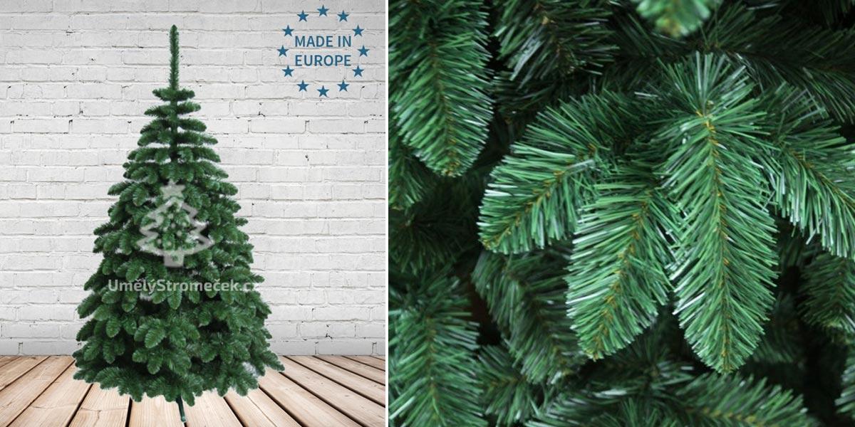 Umělé vánoční stromky – borovice šlechtěná. (Tento vánoční stromek koupíte v e-shopu Umelystromecek.cz)