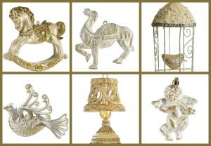 Bílá se zlatou vdechnou luxusu letošních Vánoc nádhernou nostalgii. (Zboží je z nabídky shopu Italissima Home.)
